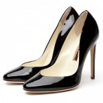 Shiny Black Patent High Heels