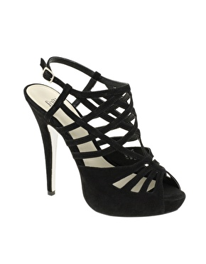 Charming Black Strappy Heels
