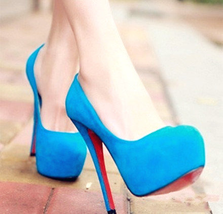 Splendid Blue Heels