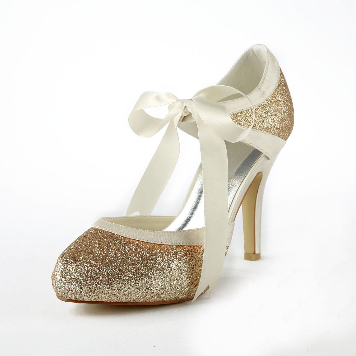 Pretty Champagne Wedding Shoes