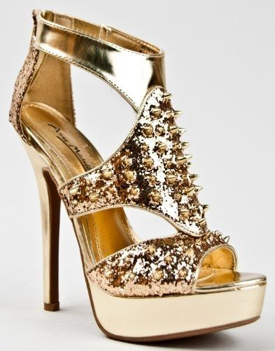 Sharp Gold Heels