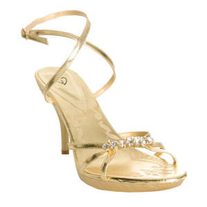Marvelous Gold Strappy Heels