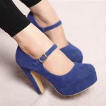 Blue High Heel Pump