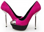Pinkish High Heeled Shoes For Women