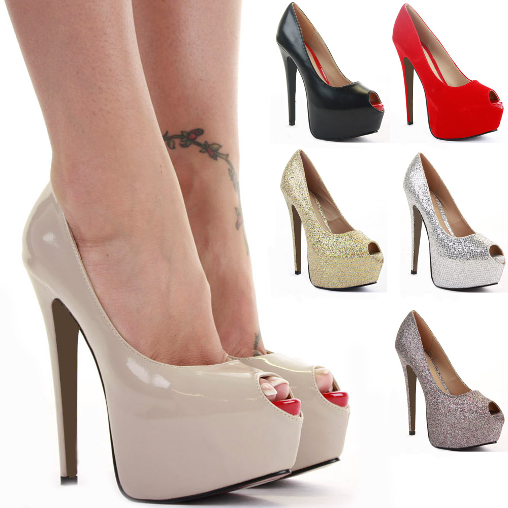 Various Color High Heels Ladies Shoes