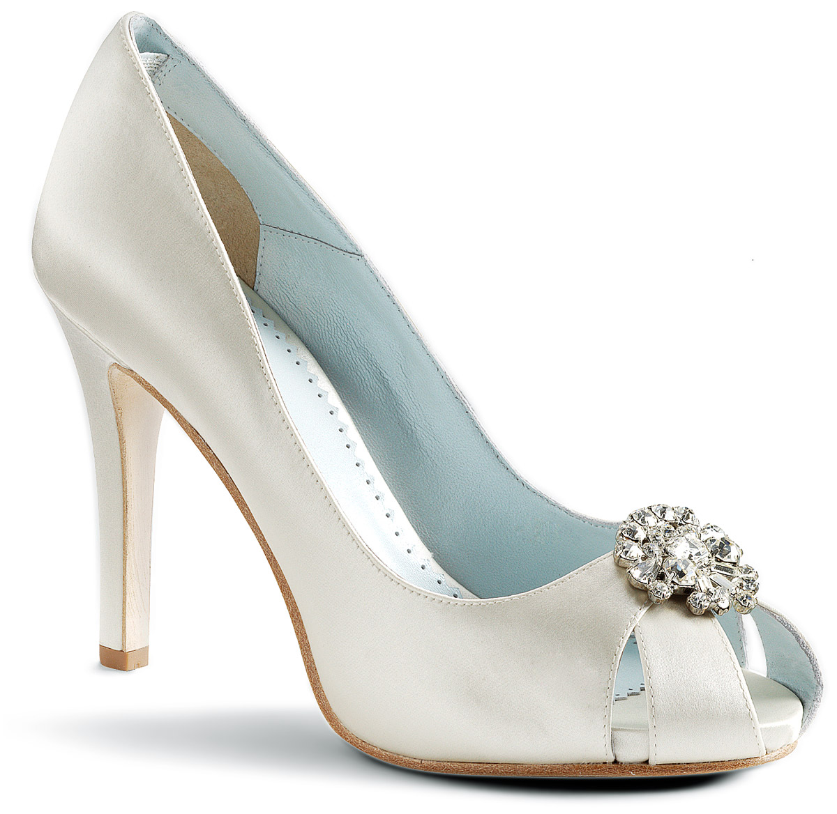 Blue And White Bridal Shoes