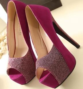 Purple Ladies Shoes Heels
