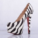 Zebra Ladies Shoes With Heels