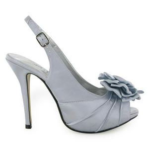Stunning Ladies Silver Shoes