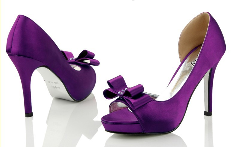 Enticing Purple Bridal Shoes