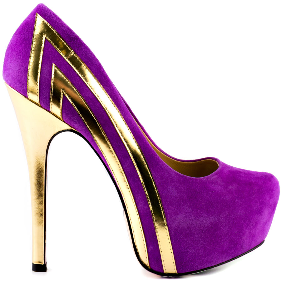 Neon Purple High Heels