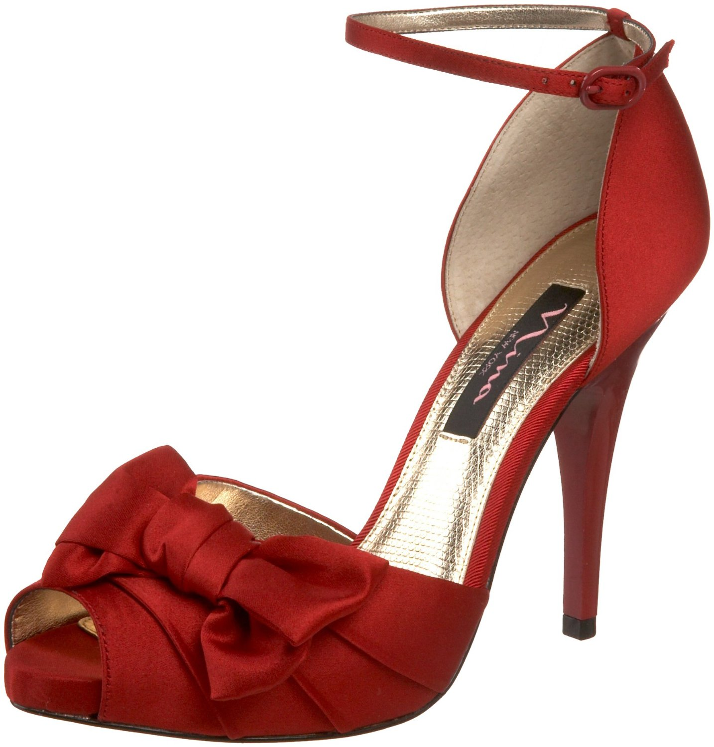 Graceful Red Bridal Shoes