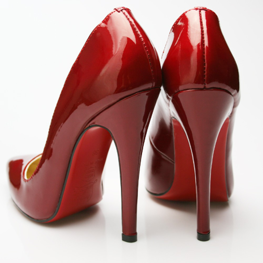 Shiny Red High Heels Shoes