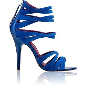 Strappy Royal Blue High Heels