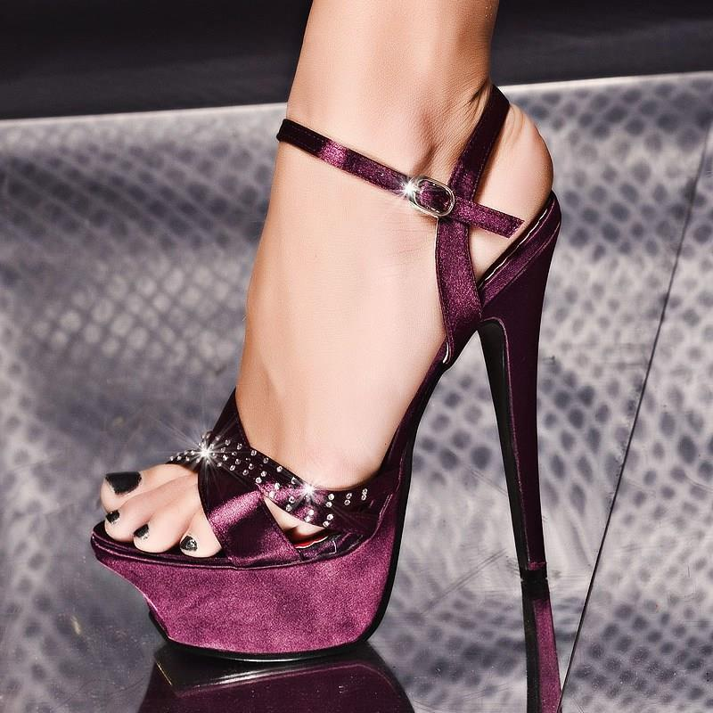 Purple Sexy High Heels