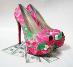 Flowery Shoes For Women High Heels