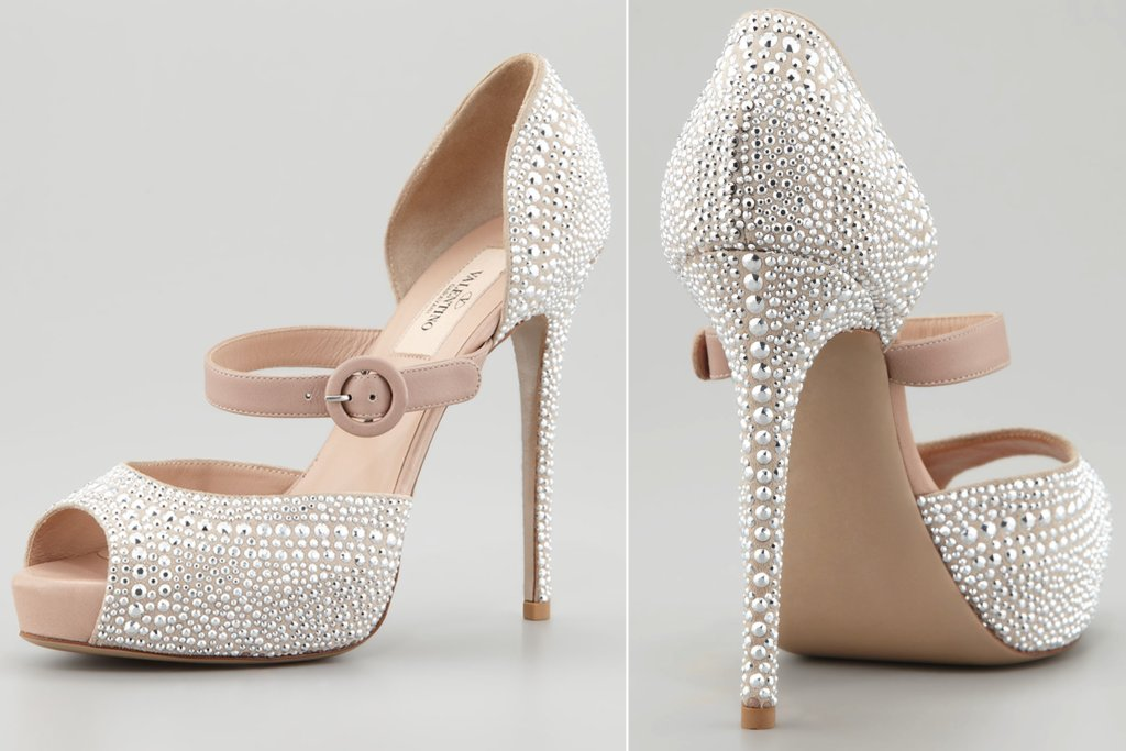 Marvelous Silver Bridal Shoes