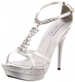Charming Silver High Heels For Prom