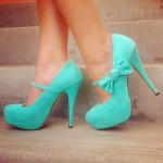 Lovely Turquoise High Heels