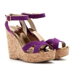 Purple Wedge Heels