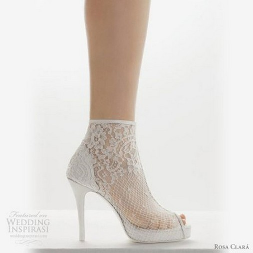 Lace White Bridal Shoes 2015