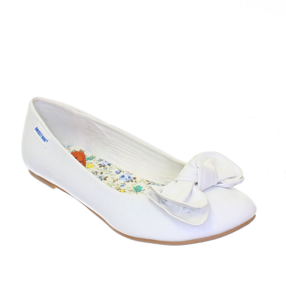 Ribbon White Ladies Shoes