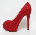 Glittering Red Women High Heel Shoes
