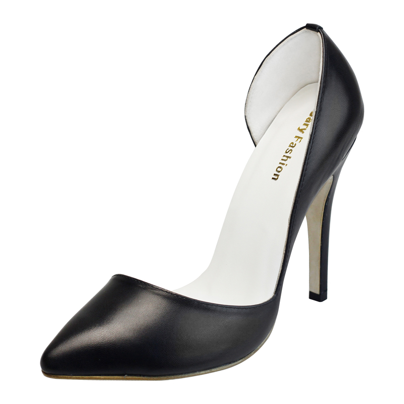 pointy black high heel shoes 2016