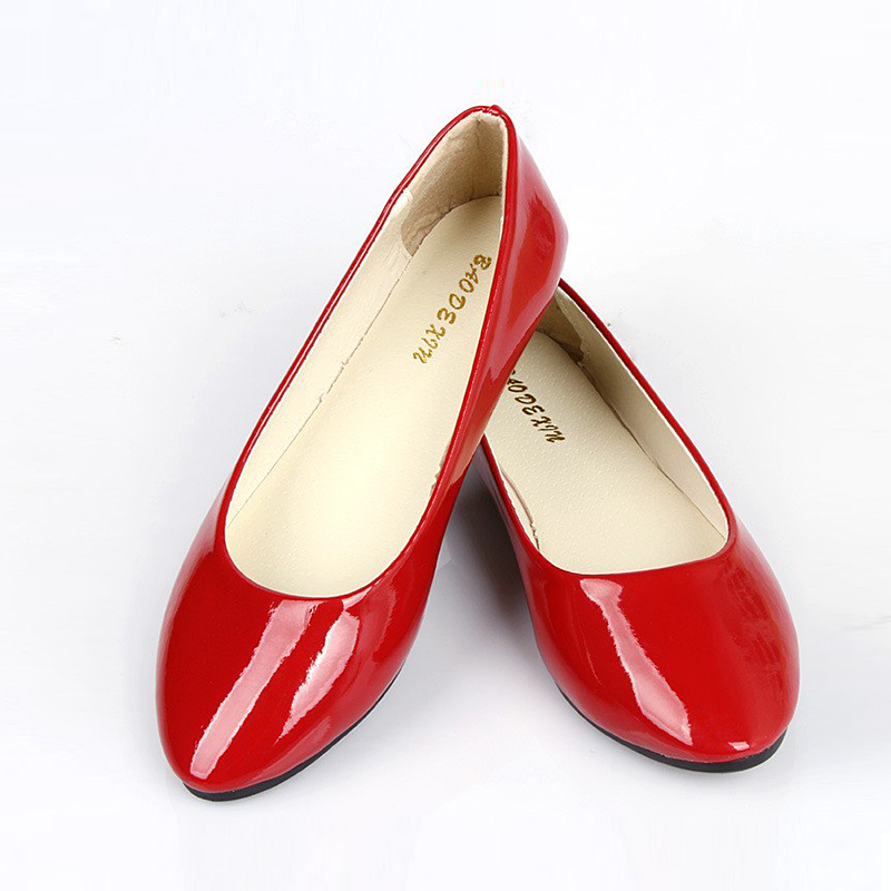 Shiny Red Female Shoes