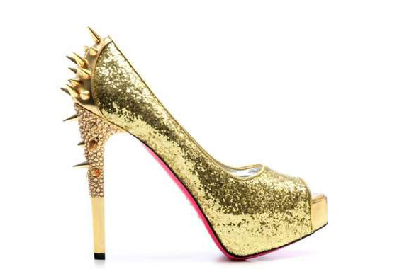 Thorny Gold Shoes