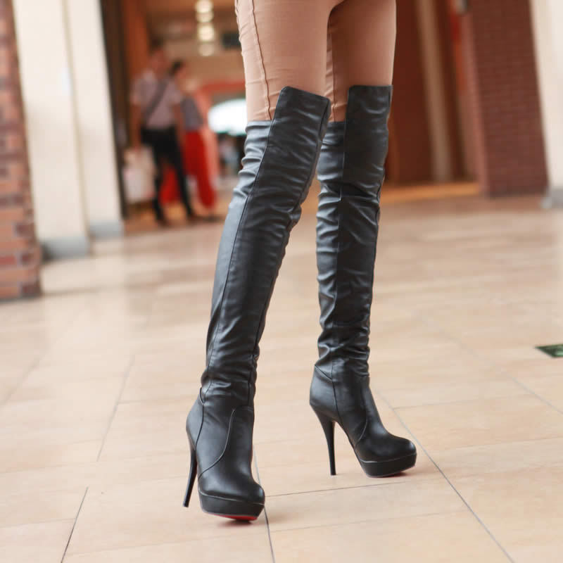 Spring High Heeled Boots