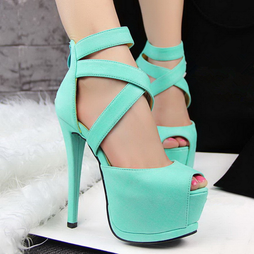 Ankle wrap High Shoes