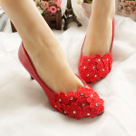 Flower Lace Large Ladies Shoes