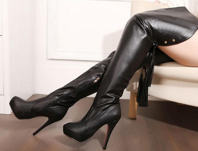 Leather Sexy Boots