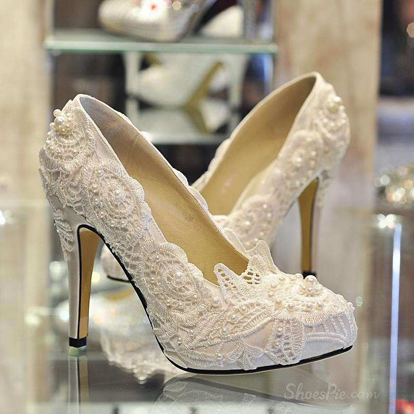 Laced Wedding Shoes