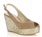 Gold Wedges Shoes