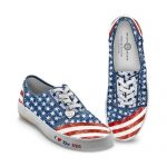 Women's Shoes: American Pride Women's Canvas Sneakers by The Bradford Exchange: 8 M US women