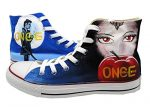 Once Upon a Time Canvas Shoes High Top Casual Canvas Painted Fashion Sneaker for Women Men (US 4.5/EUR 34/220MM)