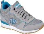 Skechers Women's OG 85 Heathered Heights Fashion Sneakers Grey/Blue 10 B(M) US