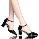 Sellwend Women's Kitten Block Heels Ankle Strap Pointy Toe Sandals Dress Pumps Black38 M EU / 7.5 B(M) US Active demand
