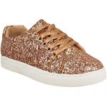 Fashion Thirsty Womens Flat Lace Up Glitter Sparkly Sneakers Trainers Plimsolls Shoes Size 7