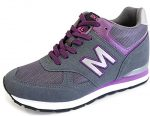 MNX15 Women's Elevator Shoes Height Increase 3.5″ RAY PURPLE (5.5 D(M)US / 225mm(KOR), Purple)