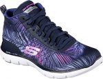 Skechers Sport Women's F Lex Appeal 2.0-New Recruit Fashion Sneaker, Navy Pink, 11 M US