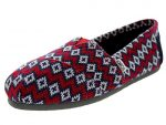 Toms Women's Classic Knit Navy Geo Casual Shoe 6.5 Women US