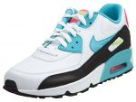 Nike Air Max 90 LTR White/Gamma Blue-Pink Blast-Ghost Green (GS) (6.5 Big Kid M)