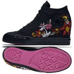 Converse x PatBo Chuck Taylor All Star Lux Mid 554865C Black Wedge Women Shoes (size 6.5)