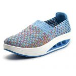 SUDILO Women's Ultra Lightweight Multicolor Woven Fashion Sneakers Casual Breathable Slip-on Shoes
