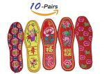 Tianrui Crown Women And Men Chinese Embroidery Casual Cotton Shoes Pad . 10 pair VALUE PACK
