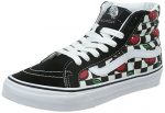Vans Womens Black SK8-Hi Slim Cherry Checkers Sneakers-UK 3