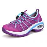 Gwendolynarnett Comfortable Fashion New Convenient Show Women's Casual Athletic Mesh Sports Shoes Cushioning Running Sneakers (7, Purple)